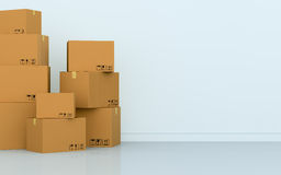 Stack of cartons Stock Photo
