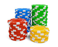 Stack of casino chip on white background. 3d rendered illustration vector illustration