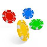 Stack of casino chip on white background. 3d rendered illustration royalty free illustration