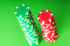 Stack of casino chips Royalty Free Stock Image
