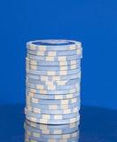 Stack of casino poker chips Stock Photos
