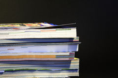 Stack of catalogues 03. Colorful stack of mail order catalogues Royalty Free Stock Photo