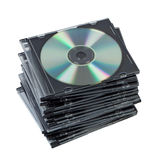 Stack CD in box isolated. Stock Images