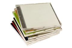 Stack of CD casings Stock Image