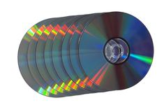 Stack of CD DVD disks Stock Image