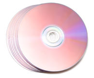Stack of Cd or DVD roms Royalty Free Stock Photography