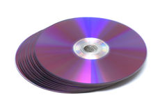 Stack of Cd or DVD roms Stock Image