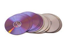 Stack of cd roms. CD & DVD disk Stock Photography