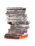 A stack of cd's Royalty Free Stock Photography