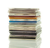 Stack of CDs in boxes Stock Photos