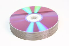 Stack Of CDs DVDs Stock Images