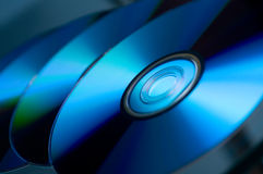 Stack of CDs DVDs BluRay Royalty Free Stock Images