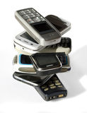 Stack of cell phones. Stack of different cell phones Stock Photography