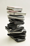 Stack of cellphones Stock Photos