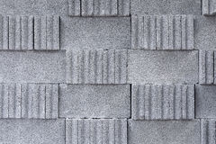 The stack of the cement block. Royalty Free Stock Photo