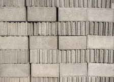 Stack of cement blocks Royalty Free Stock Images