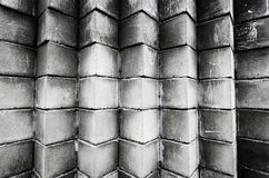 Stack of cement blocks at the construction site stock images