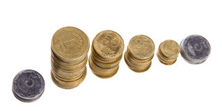 Stack cents Royalty Free Stock Photos