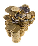 Stack cents Royalty Free Stock Image