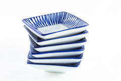 Stack of ceramic plate. Royalty Free Stock Photo