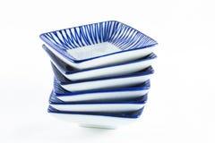 Stack of ceramic plate. Stack of ceramic plate (on white background Royalty Free Stock Photo