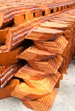 Stack of ceramic roof tiles Stock Photography
