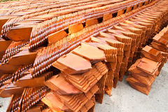 Stack of ceramic roof tiles Royalty Free Stock Photos