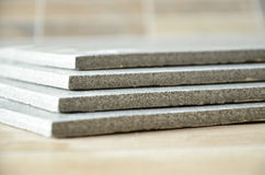 Stack of ceramic tiles. Grey and modern Stock Images