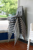 Stack of chairs. Several chairs stacked on top of each other Royalty Free Stock Photography
