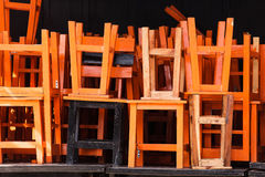 Stack of chairs Royalty Free Stock Photos