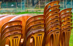 chairs plastic made objects Royalty Free Stock Photos