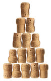 Stack of Champagne Corks Stock Image