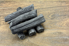 Stack of charcoal Royalty Free Stock Images