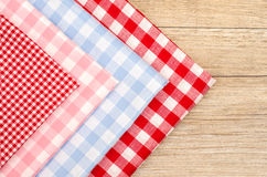 Stack of checkered cloths Royalty Free Stock Image