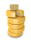 Stack of cheese Stock Image