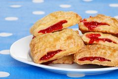 Stack of cherry danish Royalty Free Stock Photography