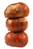 Stack of chestnuts with raindrops Royalty Free Stock Images