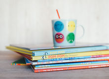 Stack of Childrens Book Stock Images