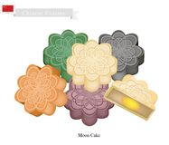 Stack of Chinese Moon Cake for Mid Autumn Festival Royalty Free Stock Photo