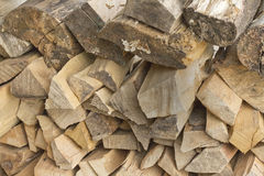Stack of chipped wood Stock Photo