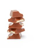 Stack of chocolate Royalty Free Stock Photography