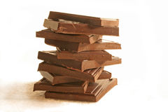Stack of chocolate. Royalty Free Stock Photo