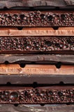 Stack of chocolate stock photography