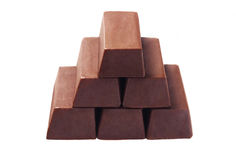 Stack Of Chocolate Bars Stock Photos