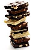 Stack of Chocolate Blocks Royalty Free Stock Image