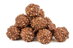 Stack of chocolate candies royalty free stock photos