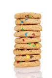 Stack of chocolate chip candy cookies Stock Photos
