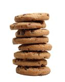 Stack of chocolate chip cookies Royalty Free Stock Image