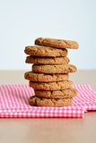 Stack of chocolate chip cookies. Stock Photos