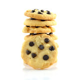 Stack of Chocolate Chip Cookies Isolated on a White Background. Royalty Free Stock Images